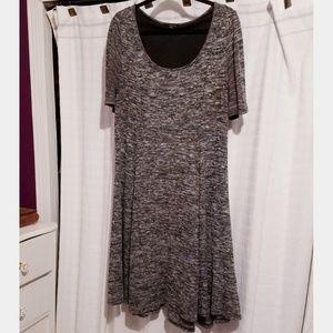 Torrid Size 1 Marled Grey Knit Skater Dress
